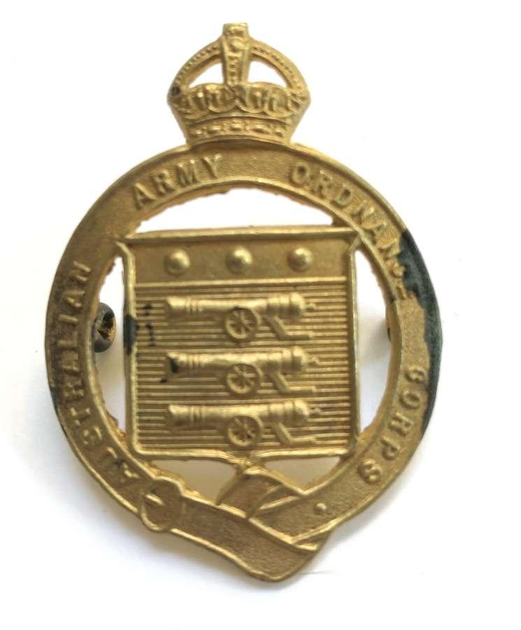 Australian Army Ordnance Corps hat badge circa 1930-42
