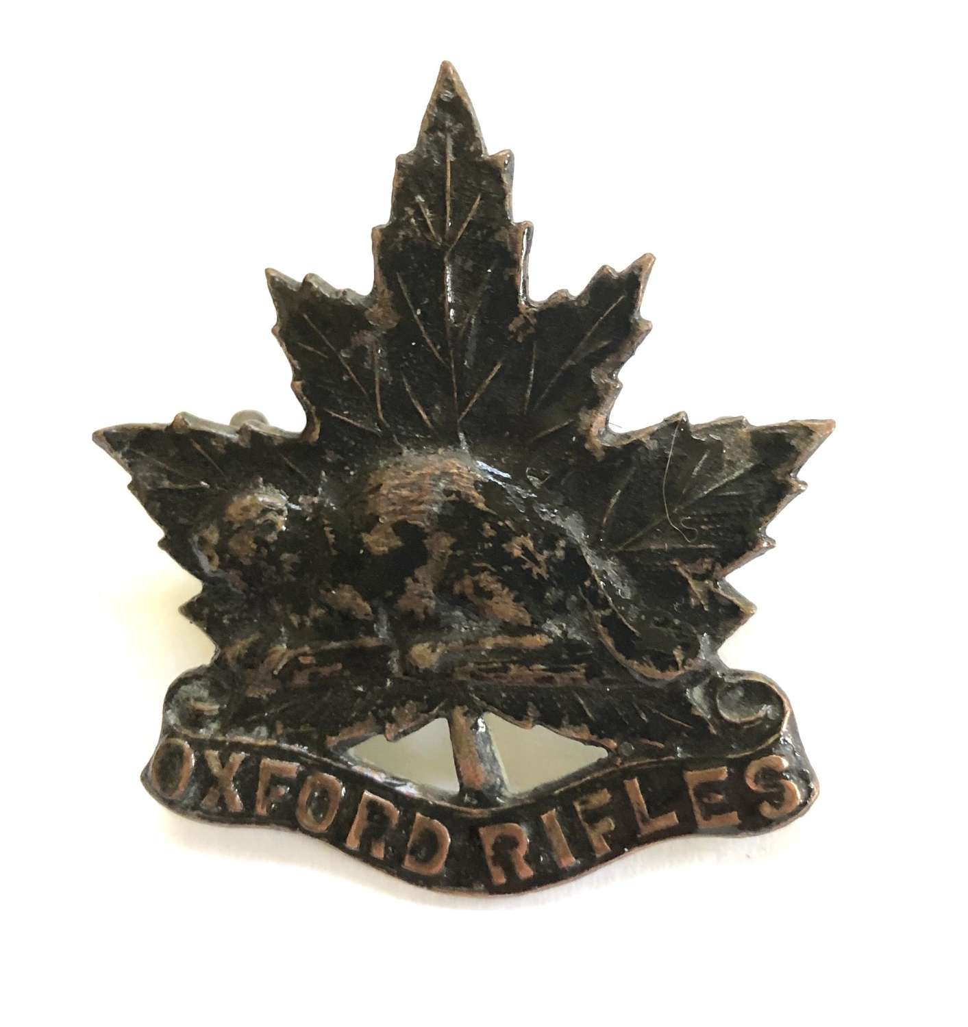 Canadian Oxford Rifles cap badge