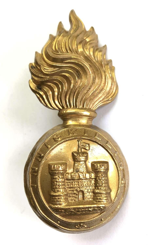 Royal Inniskilling Fusiliers OR's fur cap grenade circa 1881-1914