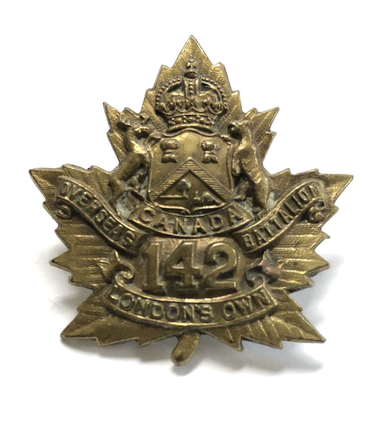 Canada. 142nd (London's Own) Bn. WW1 CEF cap badge