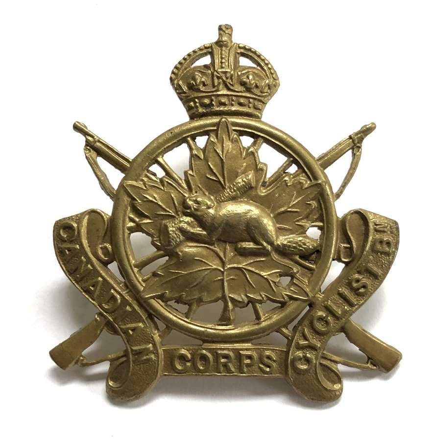 Canadian Cyclist Corps WW1 cap badge by Gaunt, London