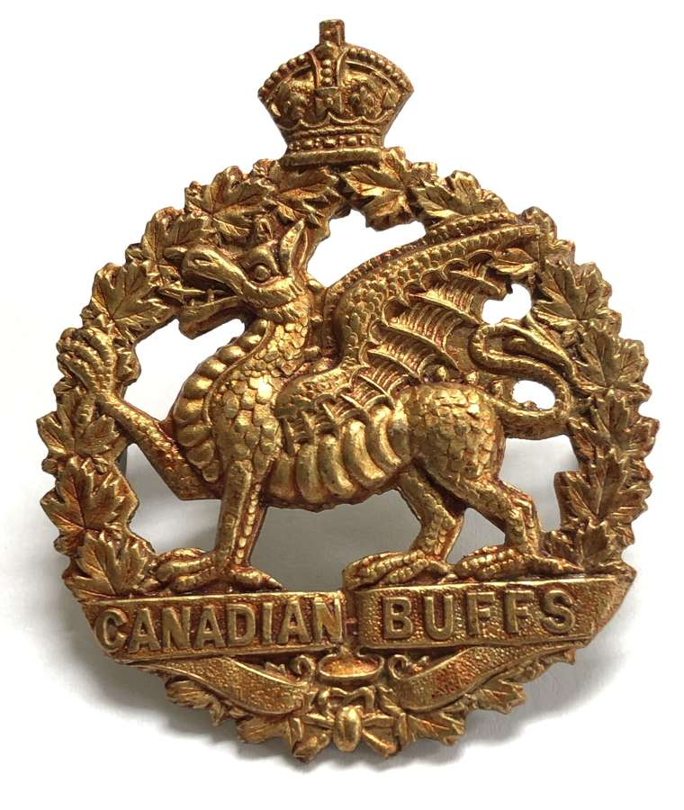 198th (Canadian Buffs) Bn. CEF WW1 Cap Badge