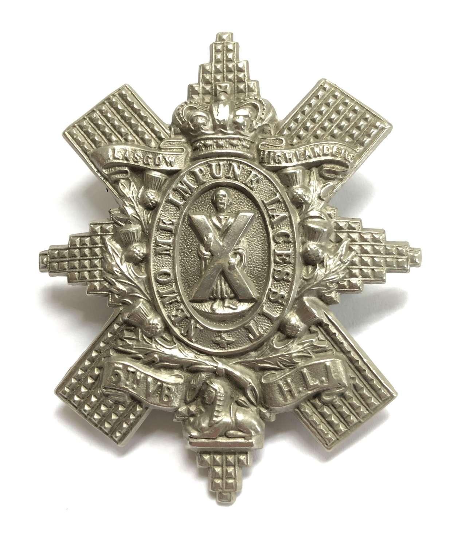 5th VB Highland Light Infantry Victorian glengarry badge c1887-1901