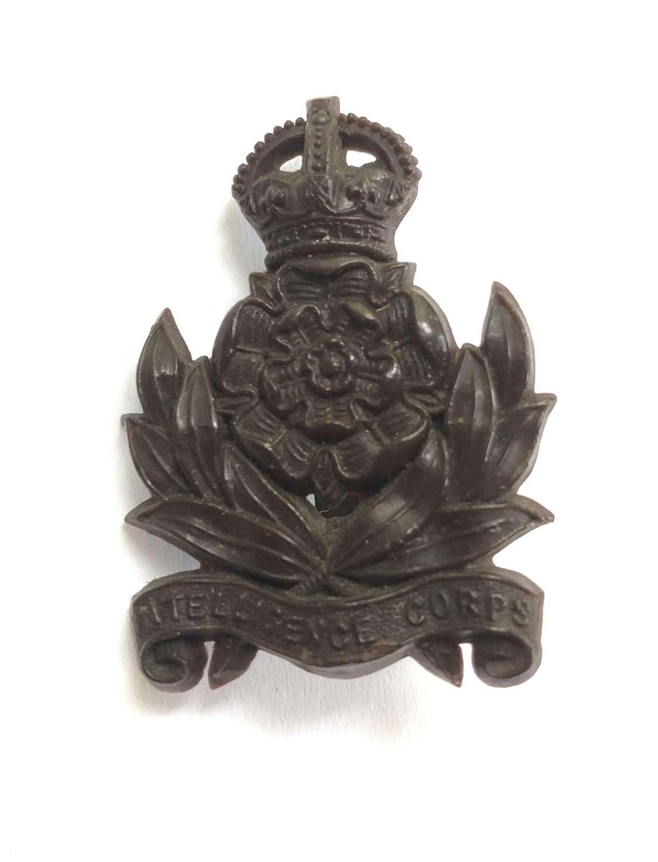 Intelligence Corps WW2 plastic economy cap badge