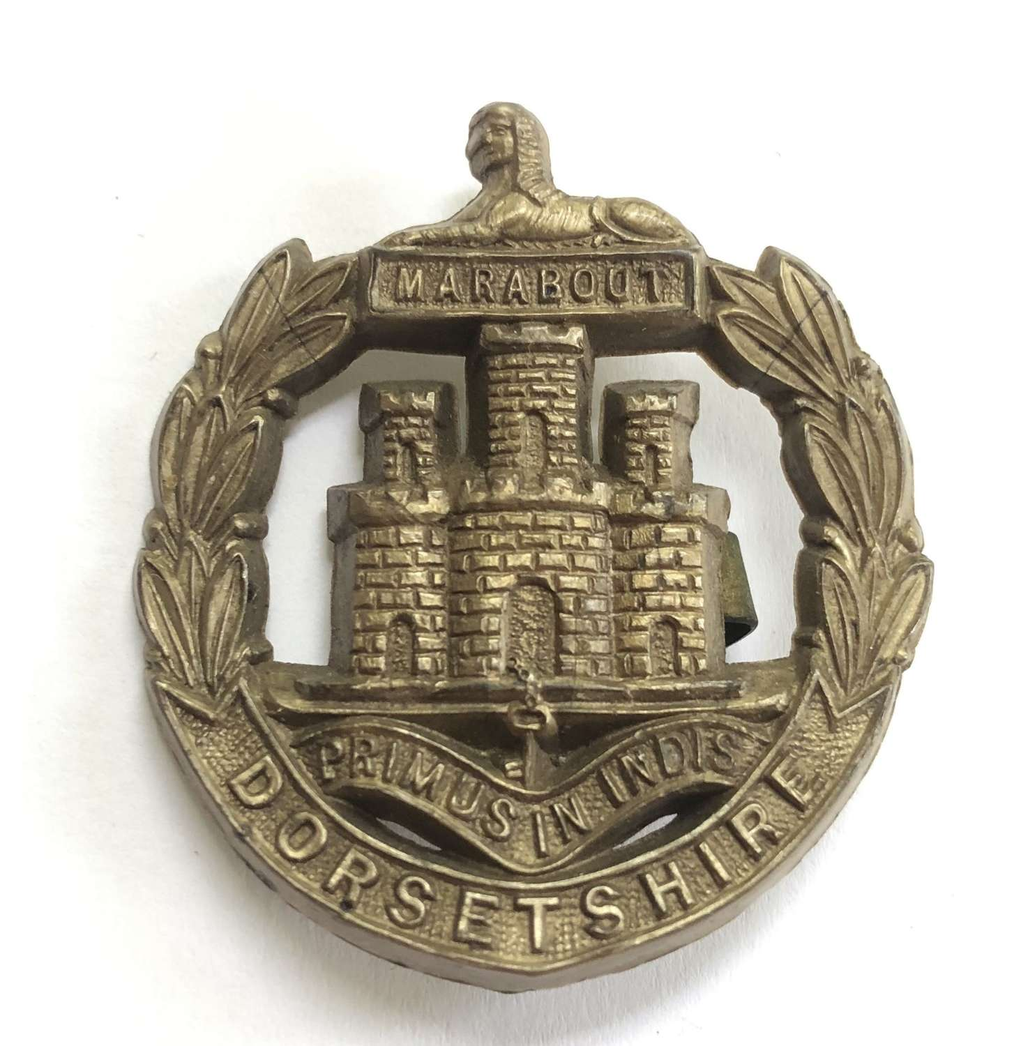 Dorsetshire Regiment WW2 plastic economy cap badge