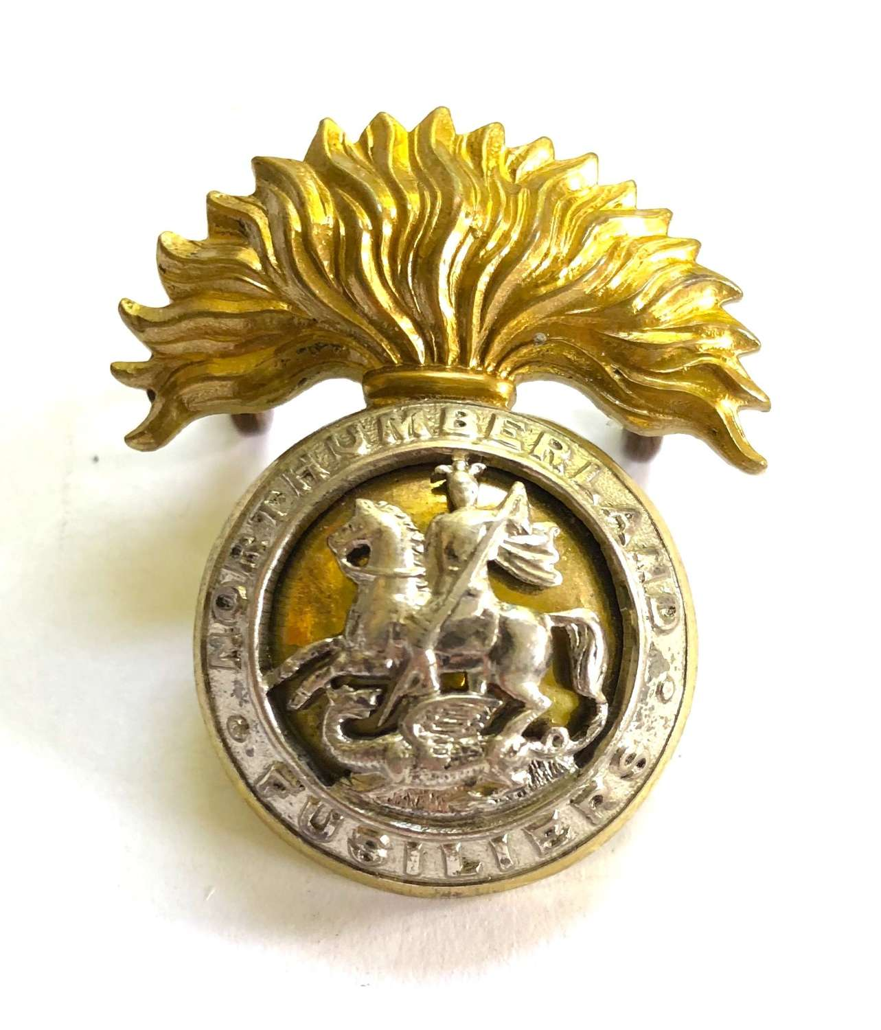 Northumberland Fusiliers pre 1935 Officer's cap badge