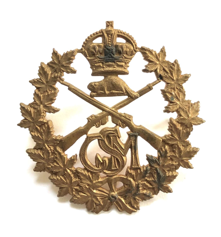 Canadian School of Musketry WW1 cap badge