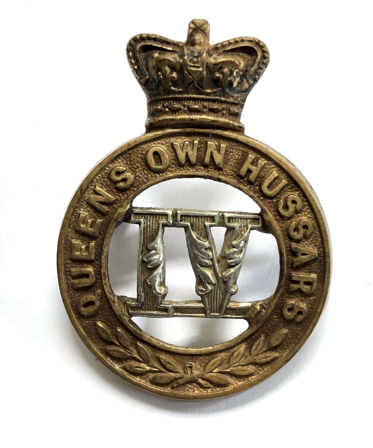 4th Queen's Own Hussars Victorian OR's cap badge circa 1896-1901