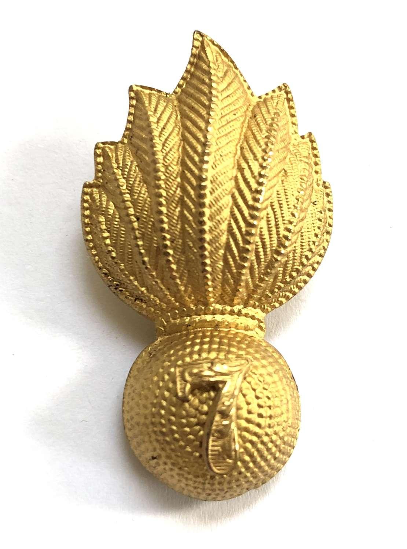 7th Bn. London Regiment Officer's forage cap badge by JR Gaunt, Lond