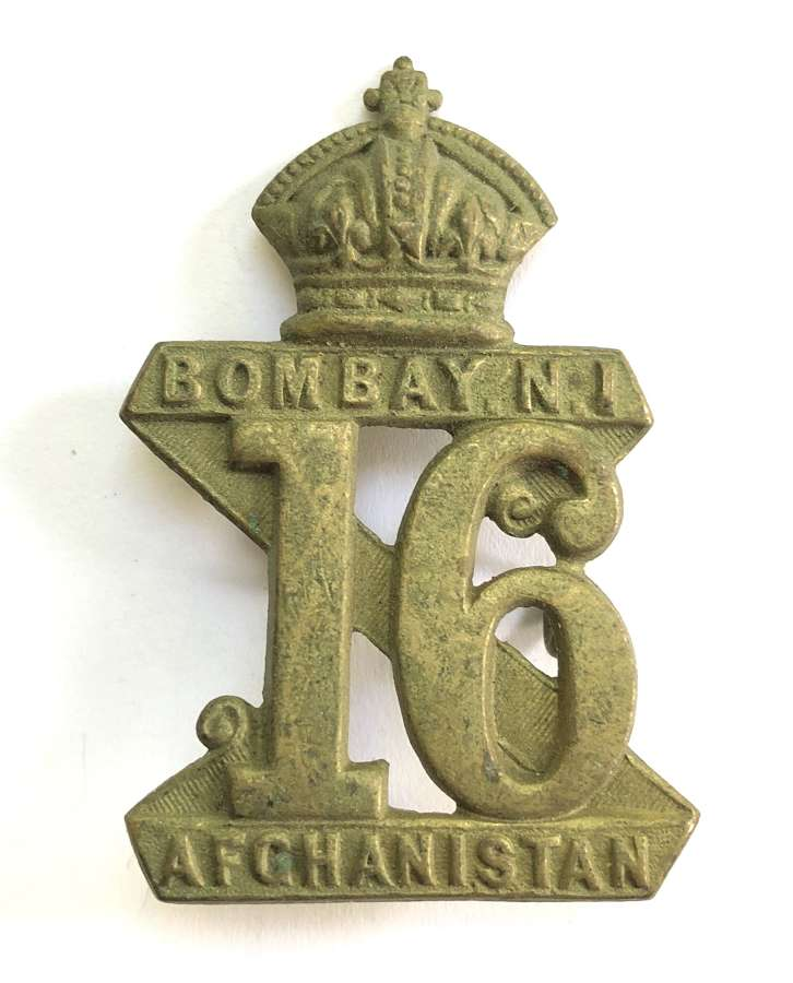 Indian Army 16th Bombay Native Infantry pre 1885 headdress badge.