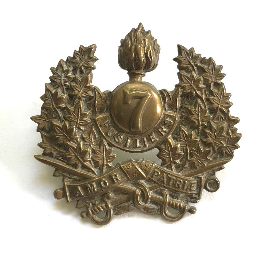 Canada 7th Regiment (Fusiliers) pre WW1 cap badge