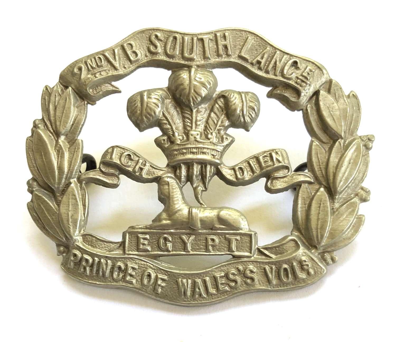 2nd VB South Lancashire Regiment OR's cap badge circa 1896-1908