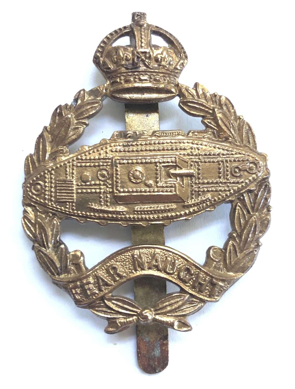 Royal Tank Corps 1924 Bandsman's brass beret badge
