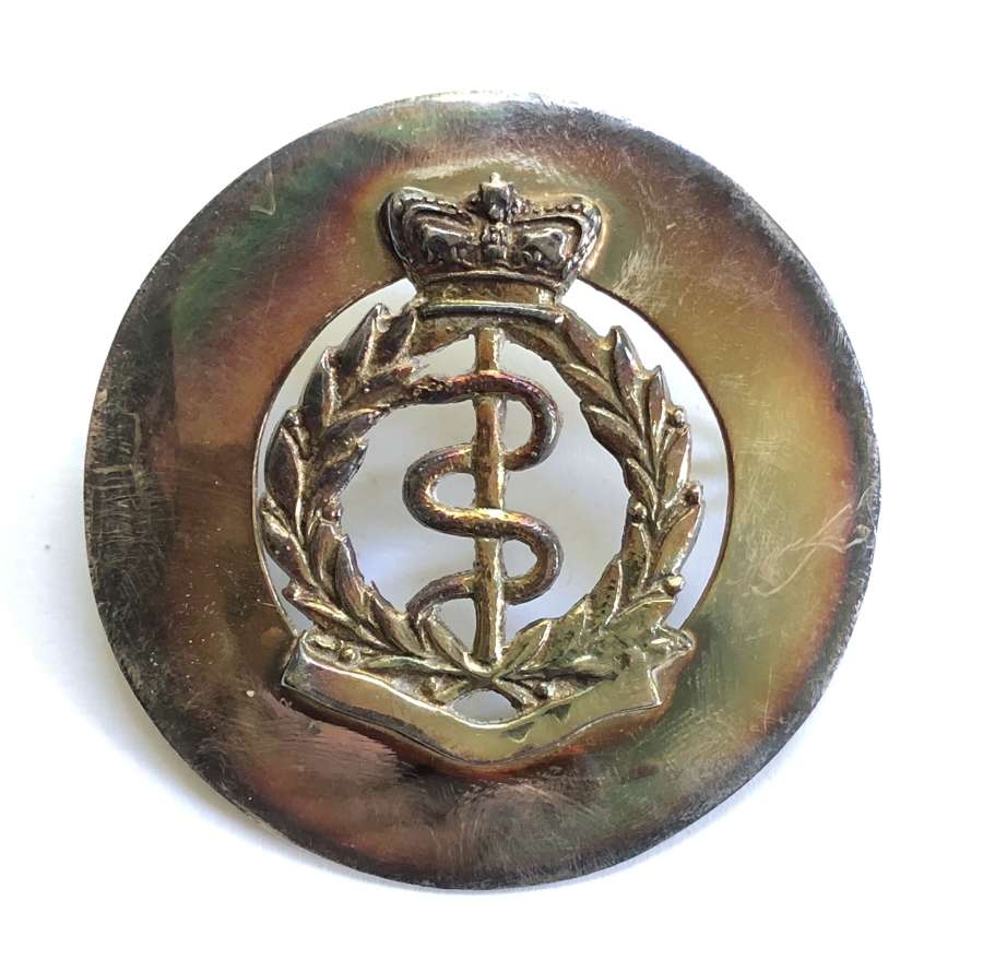 Victorian Volunteer RAMC piper's sivered glengarry badge R.G. Lawrie
