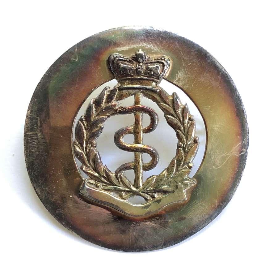 Victorian Volunteer RAMC piper's sivered glengarry badge R.G. Lawrie