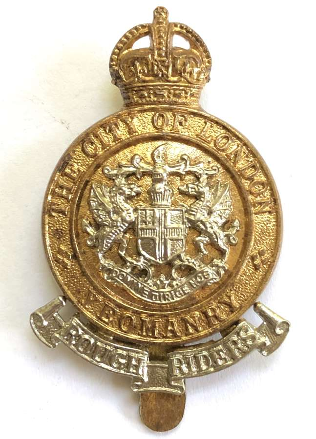 Rough Riders City of London Yeomanry OR's cap badge by J.R. Gaunt