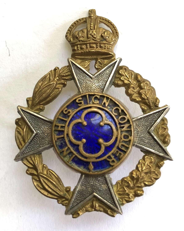 Royal Army Chaplain's Department pre 1952 dress cap badge