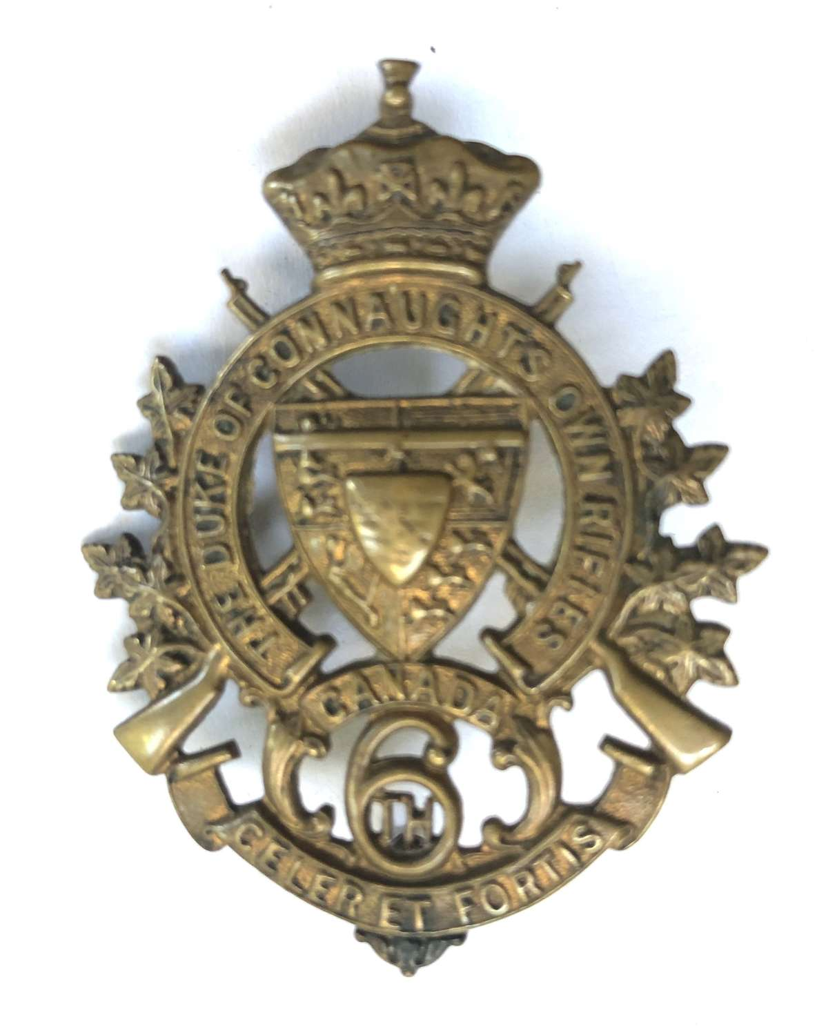 6th Regt Duke of Connaught's Own Rifles of Canada cap badge c1900-05