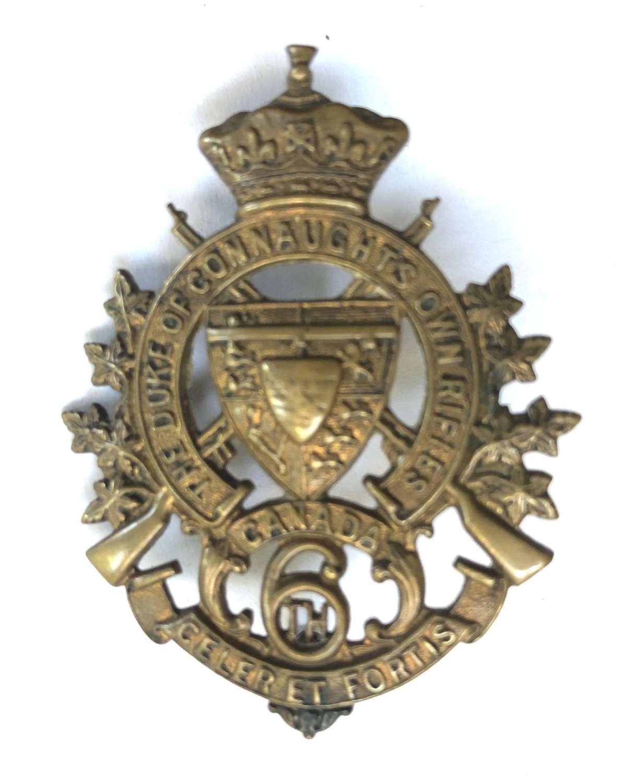 6th Regt Duke of Connaught's Own Rifles of Canada cap badge c1900-05