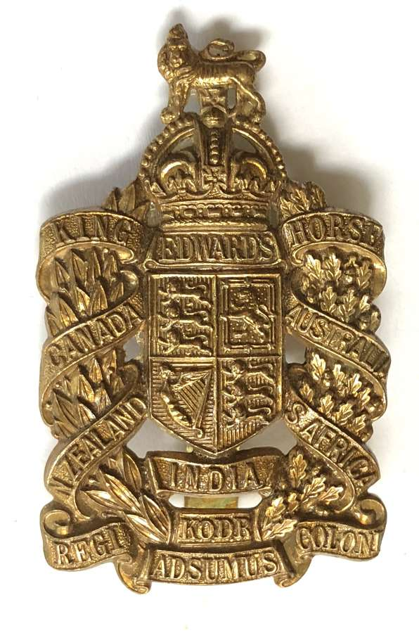 King Edward's Horse OR's brass cap badge