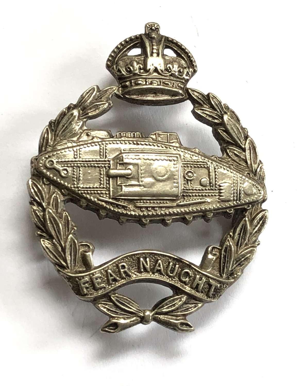 Royal Tank Regiment Offcer's beret badge by Gaunt, London C1924-52