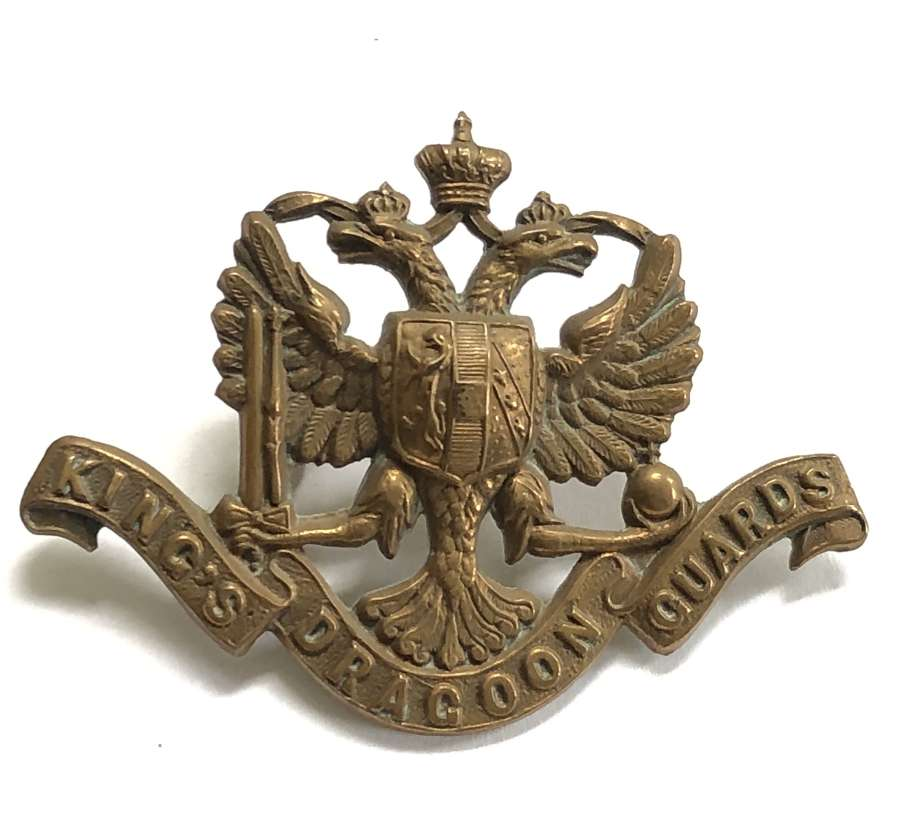 King's Dragoon Guards OR's brass cap badge circa 1896-1915