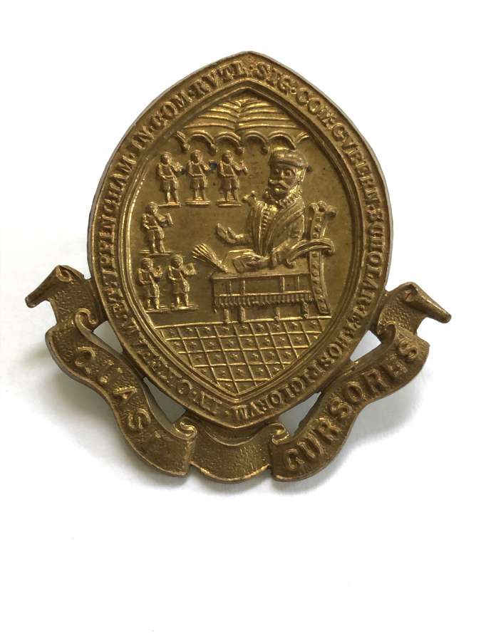 Uppingham School, Rutland OTC brass cap badge
