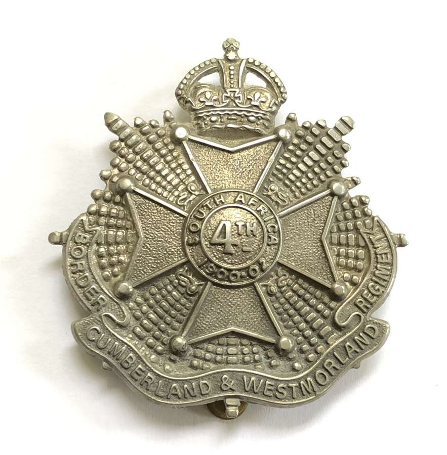 4th Bn. Border Regiment post 1908 OR's cap badge
