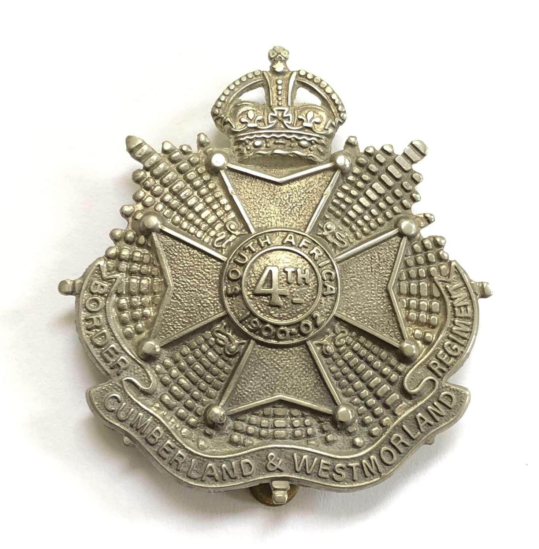 4th Bn. Border Regiment post 1908 OR's cap badge