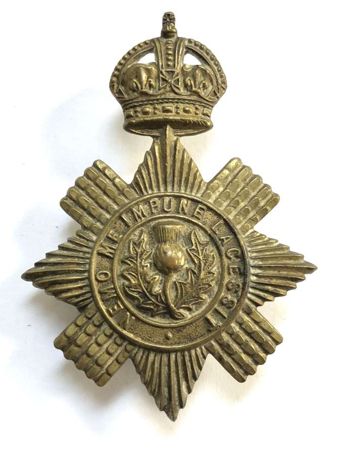 Scots Guards Sergeant's Foreign Service helmet pagri badge