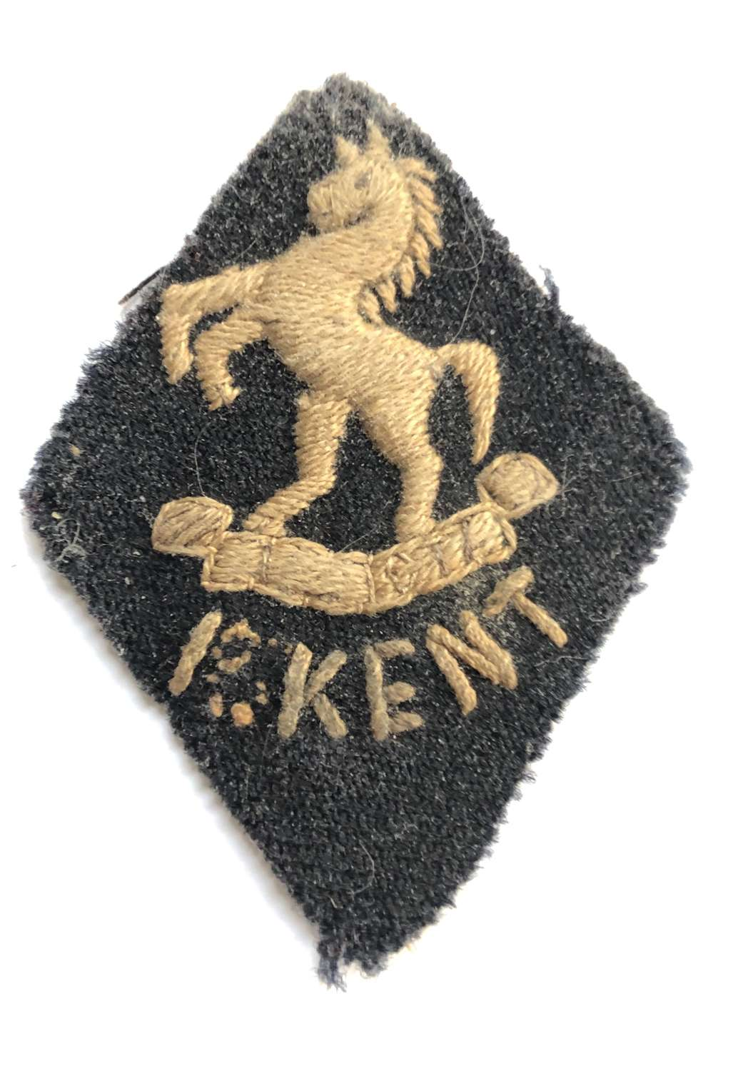 1/1st Bn. Kent Cyclists Foreign Service helmet pagri badge c1916