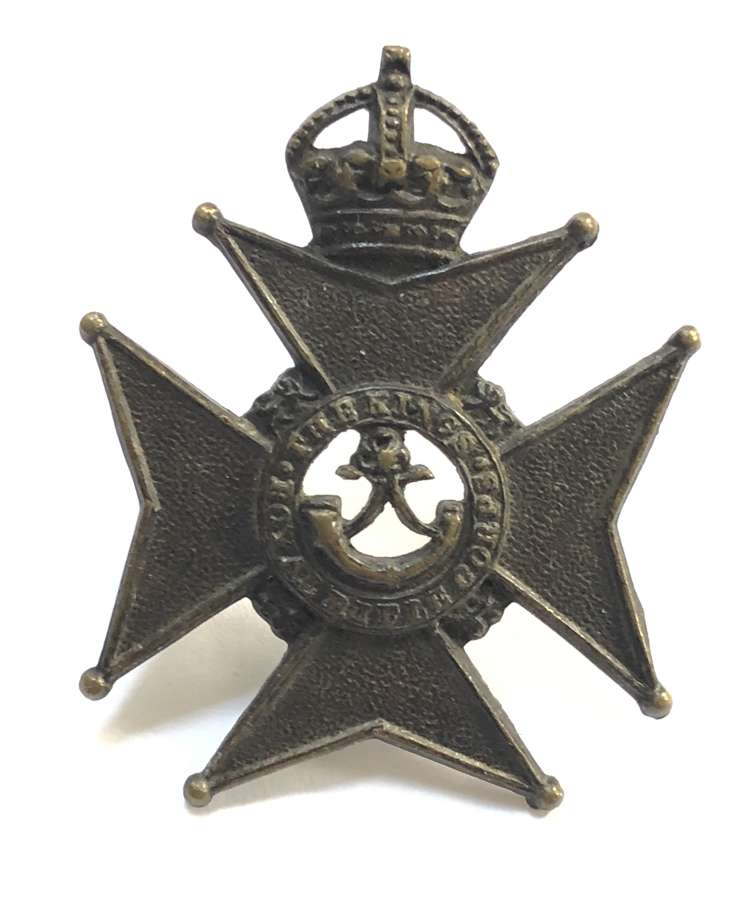 King's Royal Rifle Corps Militia Bns Edwardian cap badge c1901-08