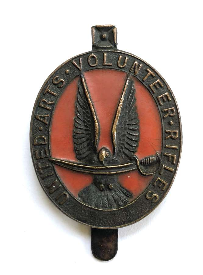United Arts Volunteer Rifles WW1 VTC bronze cap badge