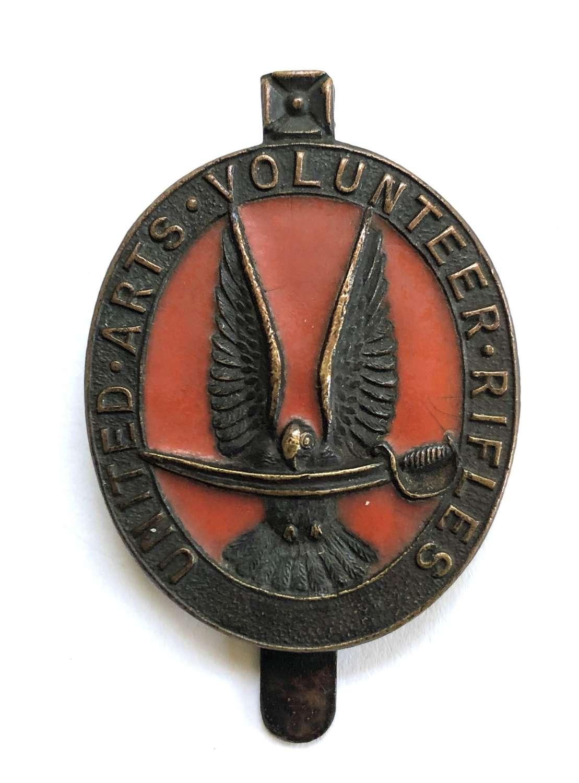 United Arts Volunteer Rifles WW1 VTC bronze cap badge