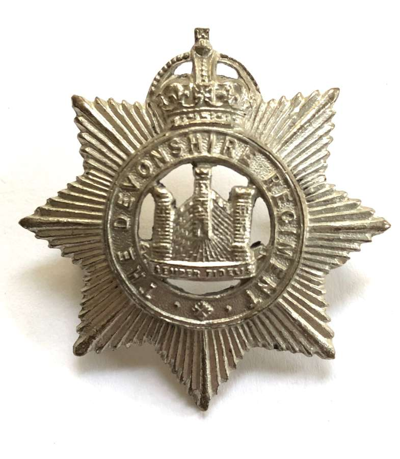 5th Bn. Devonshire Regiment post 1908 Officer's cap badge by Gaunt