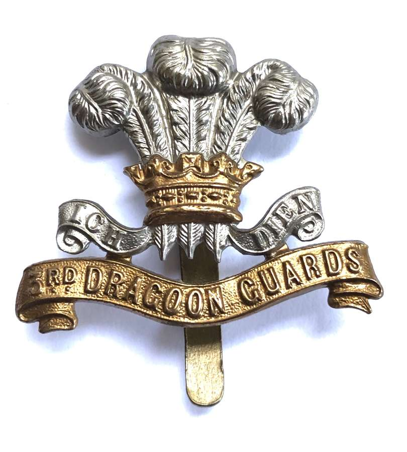 3rd (Prince of Wales) Dragoon Guards OR's cap badge circa 1896-1922