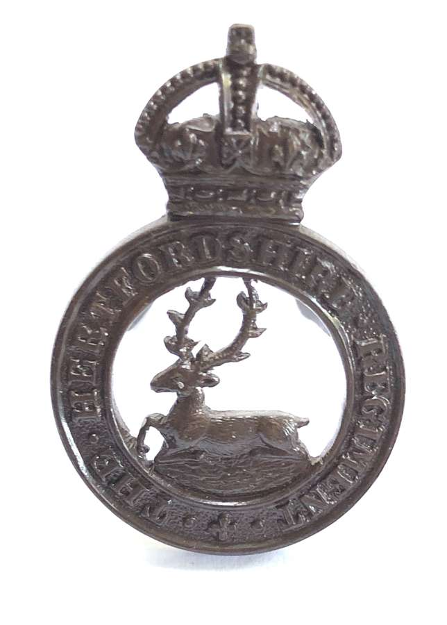 The Hertfordshire Regiment OSD cap badge by JR Gaunt, London