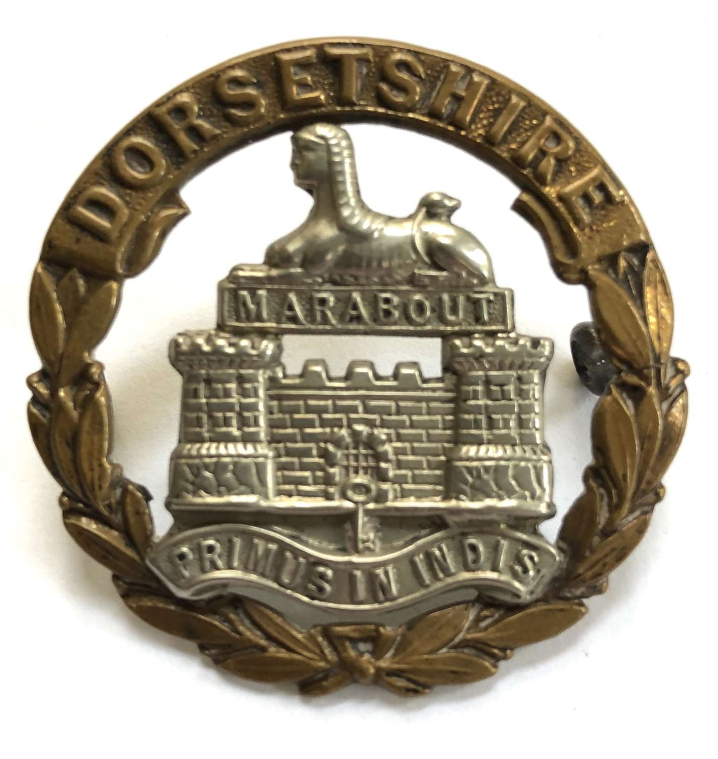 Dorsetshire Regiment Victorian cap badge circa 1896-1900