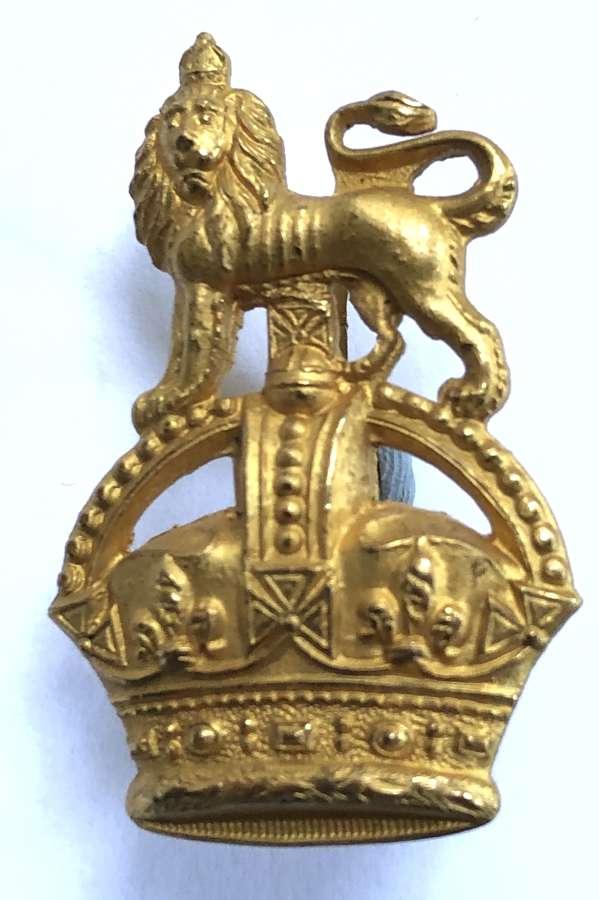 Staff Officer post 1901 gilt cap badge
