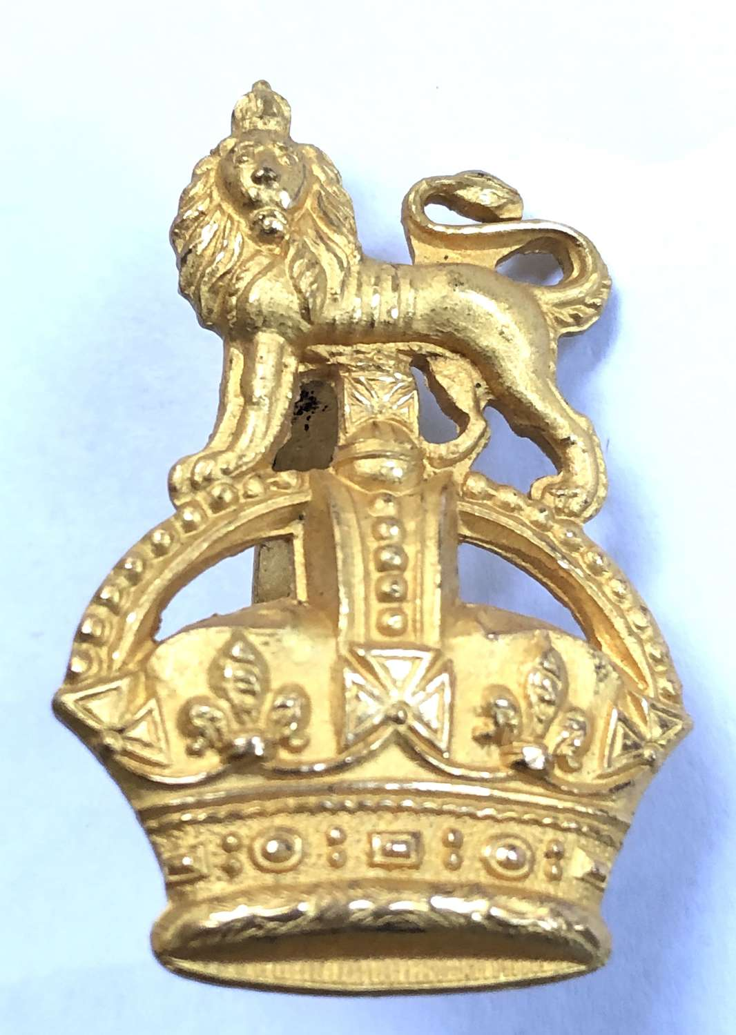 Staff Officer post 1901 gilt cap badge