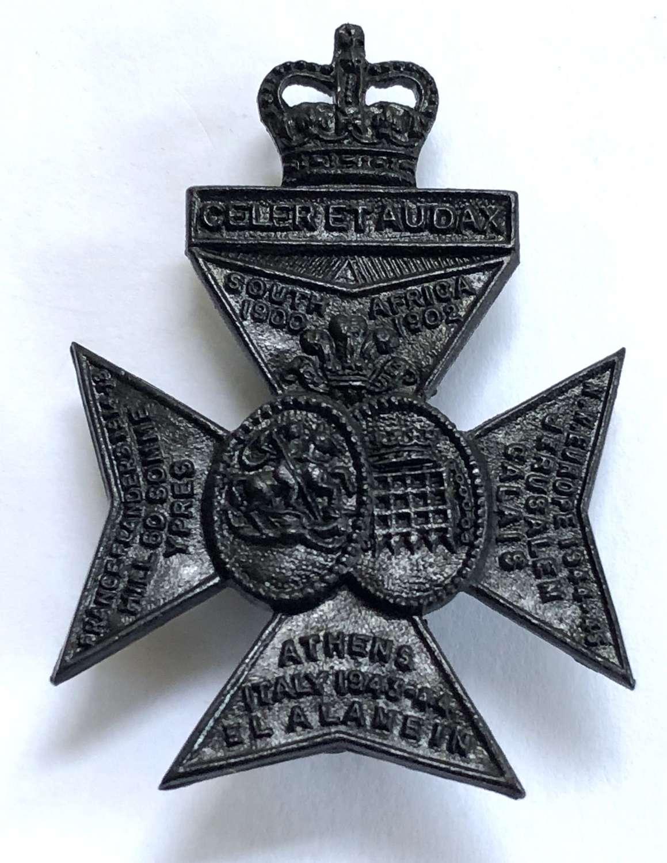 Queen's Royal Rifles post 1960 cap badge by H.W. Timings Ltd B'ham