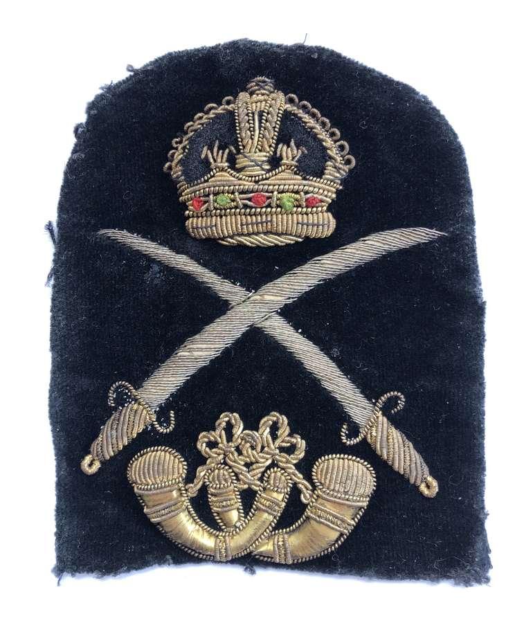 Colour Sergeant Rife Regiment bullion rank badge circa 1901-1915