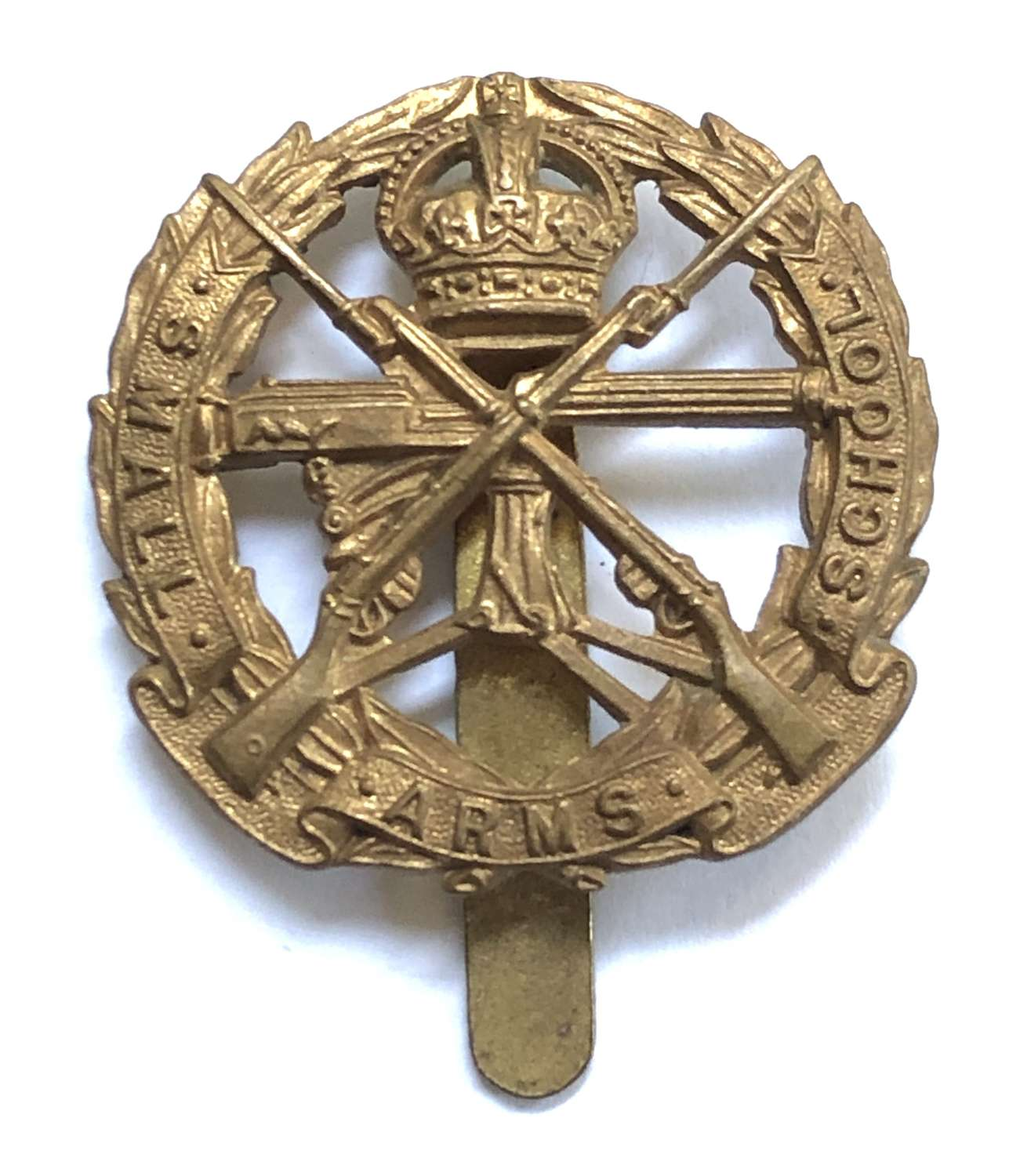 Small Arms School cap badge circa 1926-52 by Firmin, London