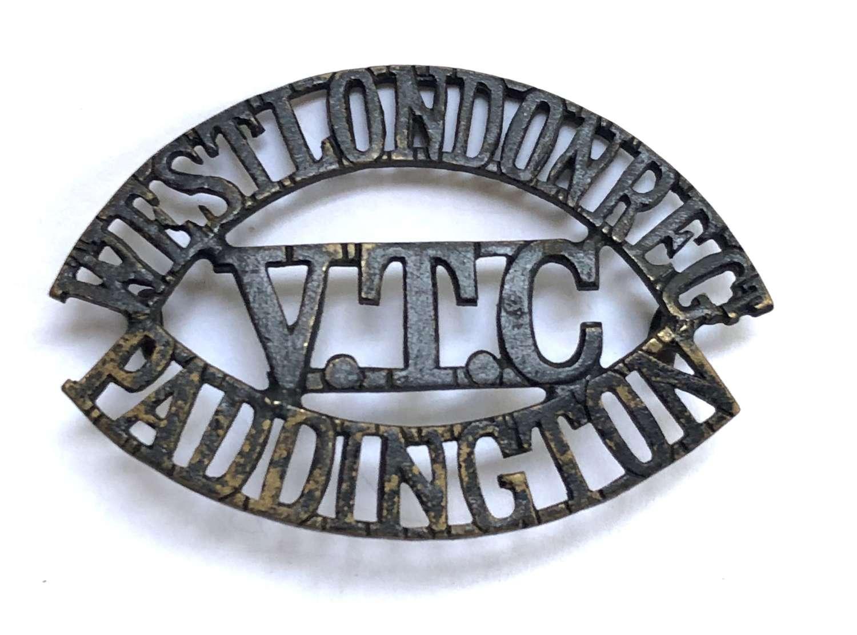 WEST LONDON REGT. / VTC / PADDINGTON shoulder title by Gaunt, London