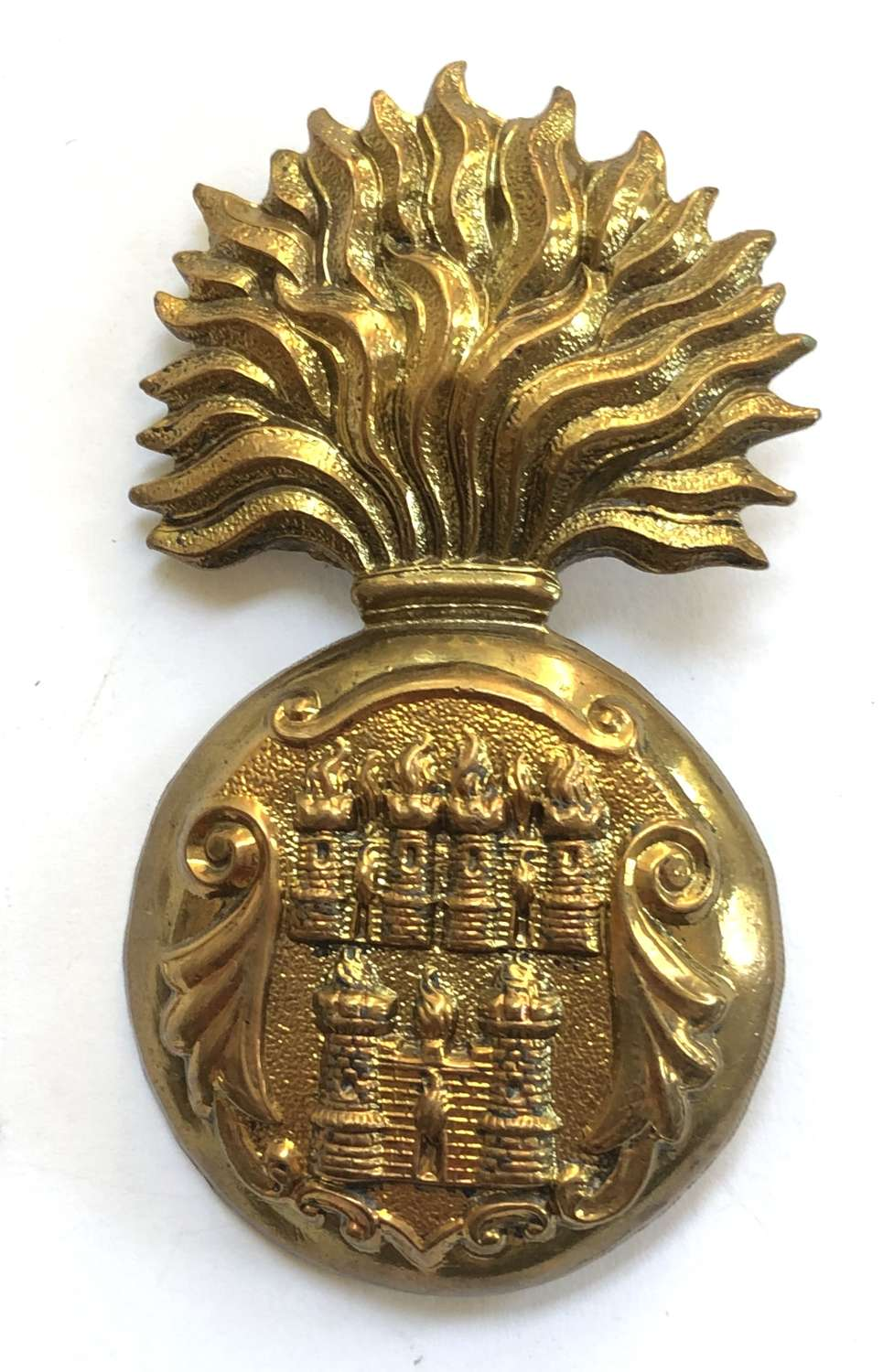 Royal Dublin Fusiliers Victorian OR's glengarry grenade c1881-96