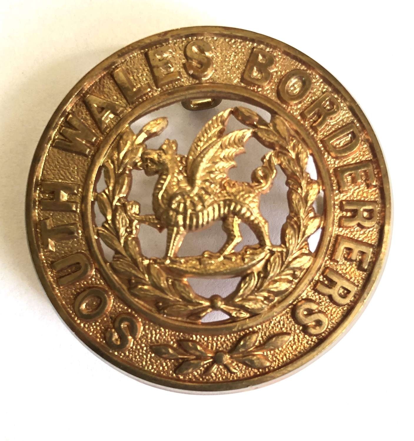 South Wales Borderers post 1881 OR's helmet plate centre