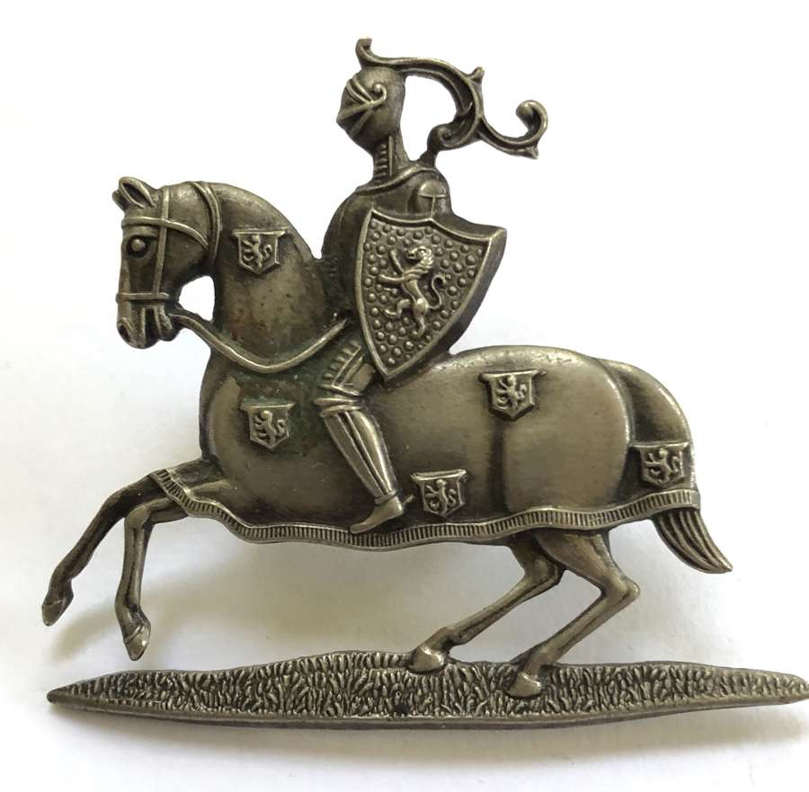 Fife & Forfar Yeomanry NCO's white metal arm badge