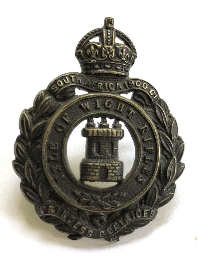 Isle of Wight Rifles Officer's cap badge