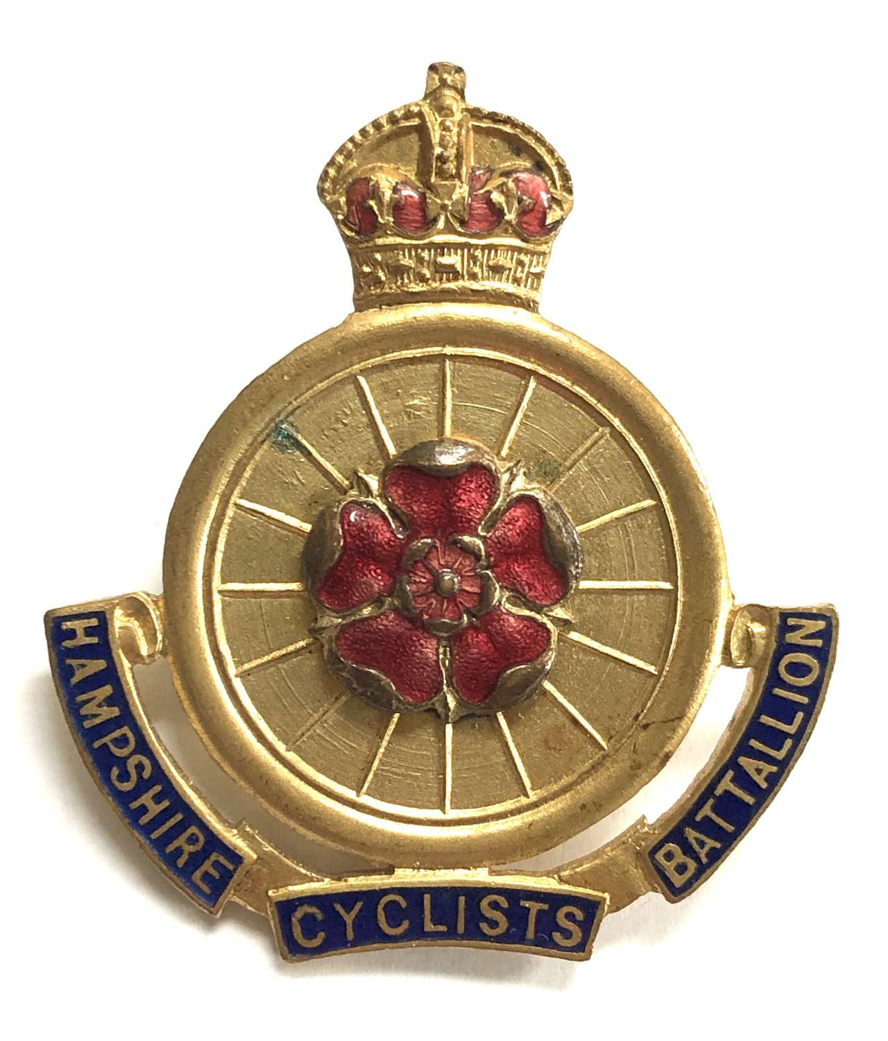 9th Cyclist Bn.Hampshire Regt. Officer's cap badge circa 1911-20