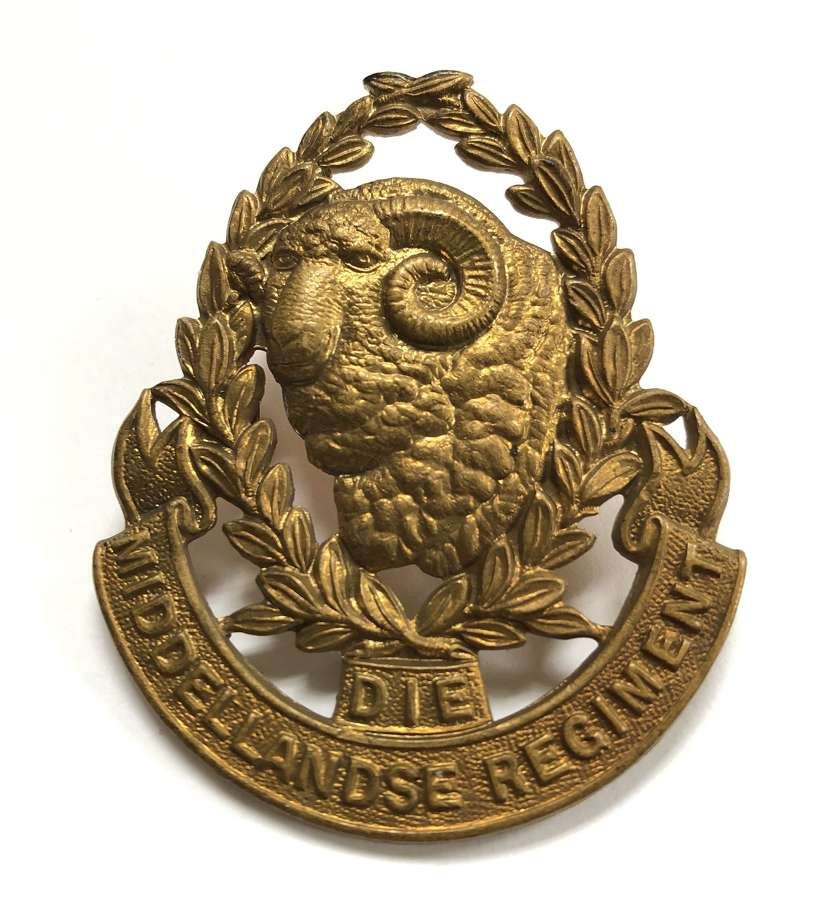 South Africa. Die Middellandse Regiment post 1934 cap badge
